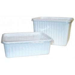 Boite plastique banche 1000Ml 180x135x60mm