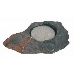 Felsschale mini ca. 20ml Lava Rock mit Schwamm