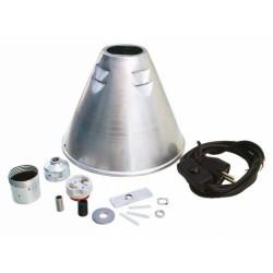 Kegel-Reflektor+Metall-Fsg.+Kabel+Schalter+Bauanleit